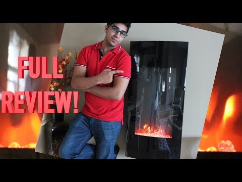 UNBOXING & REVIEW - SKY2950 Vertical Electric Fireplace! by Best Choice Products