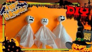 Halloween 2016. DIY 🎃👻🕷 Простые и легкие поделки на Хэллоуин для детей. Привидения/призраки