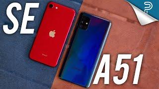 Apple iPhone SE (2020) vs Samsung Galaxy A51 - BEST $399 phone?