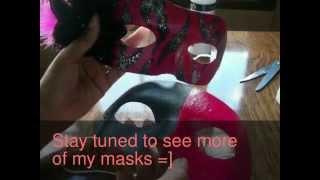DIY Masquerade Mask (Pink Zebra print)