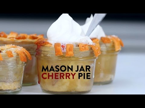 How to Make Mason Jar Cherry Pies