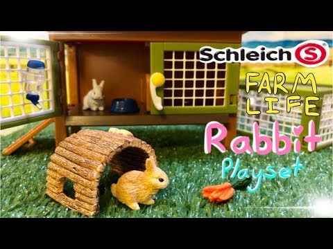Doll Review: Schleich #42420 Farm Life Rabbit Hutch with Rabbits & Feed Playset - DelightfulDolls