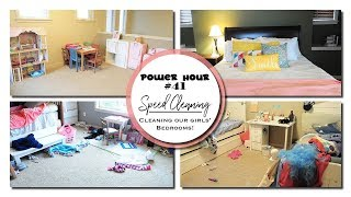 Power Hour #41: Speed Cleaning - Cleaning Our Girls Bedrooms & Playroom