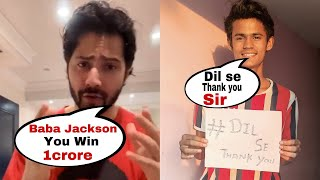 Varun Dhawan announces Baba Jackson as winner of Flipkart Video's 'Entertainer No. 1'