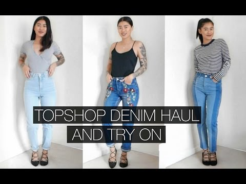 TOPSHOP DENIM HAUL AND TRY ON | IDRESSMYSELFF | AD