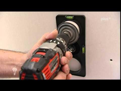 Einfach genial Kabelfinder im Trockenbau für Steckdosen und Brandschutzkappen für Deckenbeleuchtung