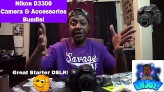 Nikon D3300 Camera & Accessories Bundle Unboxing