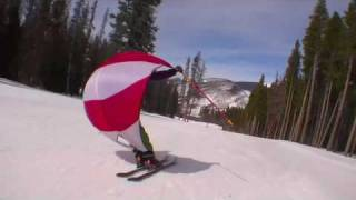 SPORTING-SAILS - Skiing with a Parachute Sail/Kite (Deploy and Enjoy)