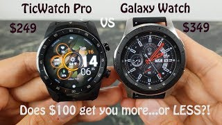 TicWatch Pro vs Galaxy Watch : Less is More!
