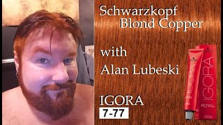 How To Get A True Ginger Color Mens Hair And Beard Dye By Schwarzkopf IGORA 777 Or 7-77, WOW!