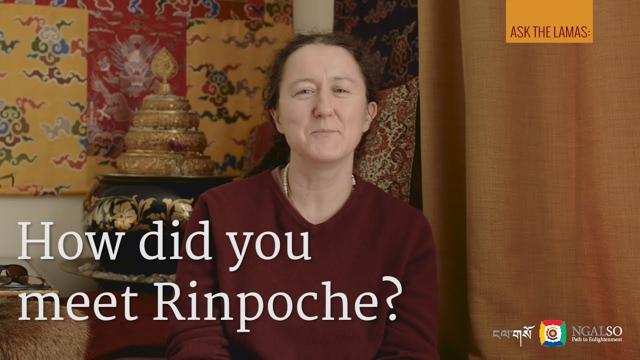 How did you meet Lama Gangchen Rinpoche?