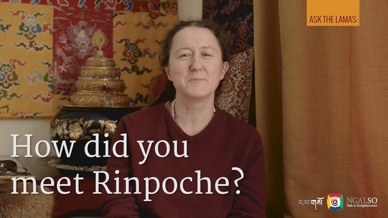 How did you meet Lama Gangchen Rinpoche?