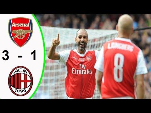 Arsenal Vs Milan (3 - 1)  UEFA Europa League 15/03/2018