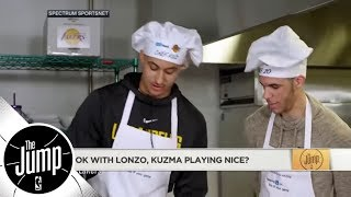 Should we be OK with Lonzo Ball and Kyle Kuzma playing nice?   The Jump   ESPN
