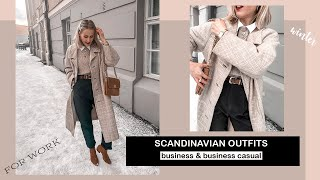 Scandinavian Winter Outfits For Work 2020- Business And Casual | SandraEmilia