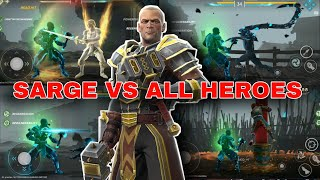 Invulnerable Sarge vs All Heroes Shadow Power HD   Shadow Fight Arena   MGD_YT