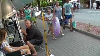Обзор улиц и переходов к пляжам в центре Лазаревское 2018