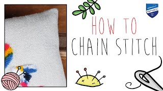 How to chain stitch with Vervaco