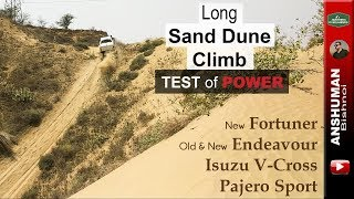 Climbing Steep Sand Dune | Fortuner, Endeavour, V-Cross, Pajero Sport | Offroad | Apr 2018