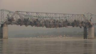 Huge explosion: Final part of Milton-Madison Bridge blown up in Kentucky
