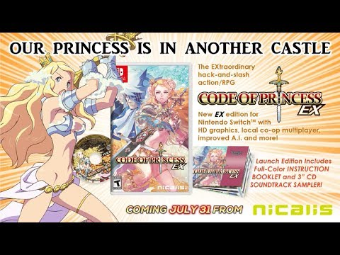 CODE OF PRINCESS EX Coming to Nintendo Switch on July 31! thumbnail