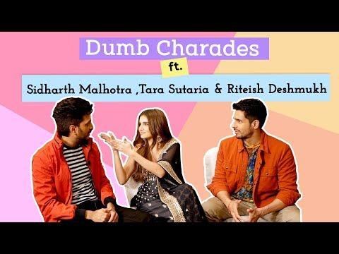 Download Sidharth Malhotra, Tara Sutaria & Riteish Deshmukh play the HILARIOUS round of 'Dumb Charades' | BOI Mp4 HD Video and MP3