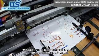 serigrafia stampa automatica forno UV LED