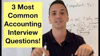 3 most frequently asked accounting interview questions