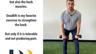 Lower Back Pain? May Need to Strengthen the Back