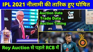 IPL 2021 - Finally BCCI Announced IPL Mini Auction Date, RCB New Opener Target IPL 2021 Mini Auction