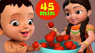 Aaha Tamatar Bada Mazedar and More | Hindi Rhymes for Children Collection | Infobells