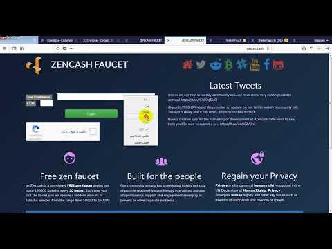 get Zen cash Faucet