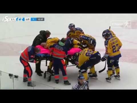Zranění Tomáše Žižky ze zápasu s Vervou Litvínov