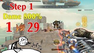 Khi Step 1 Hỏa Lực Dame Tăng 800%, 1 VS 29 Zombie Escape Và Cái Kết.