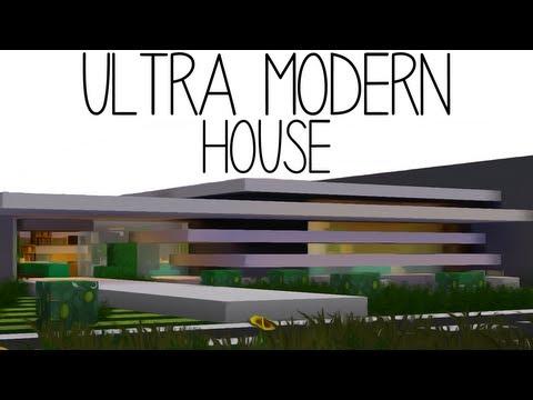 Ultra Modern House Minecraft Project
