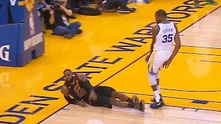 Kevin Durant Fouls LeBron James 3 Times in the 4th Quarter But Referees Don't Call it