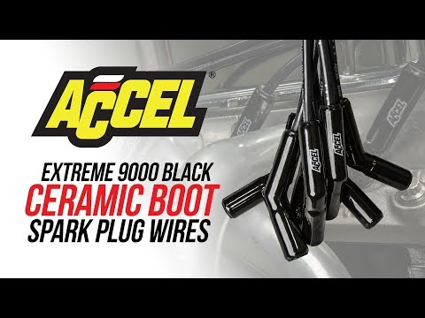 Accel Extreme 9000 Black Ceramic Boot Spark Plug Wires