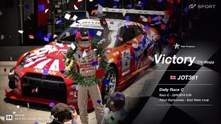 JOT381 GRAN TURISMO SPORT 230918 TOKYO EXPRESS NISSAN GT-R 1st to 1st ONLINE RACE 10 LAPS 778th WIN