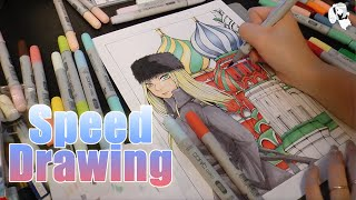 Japanese Girl Miki Drawing Russian Girl In Manga Style [Speed Drawing]