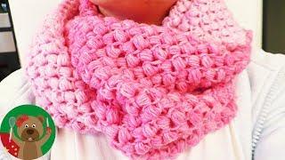手工制作 秋冬围巾编织 超级简单粉色贝壳渐变色花纹