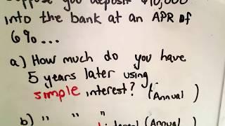 Understanding Simple Interest And Compound Interest