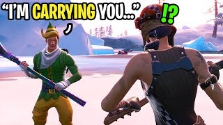 I played Fortnite with the nicest CODENAME ELF ever... (HE CARRIED ME!)
