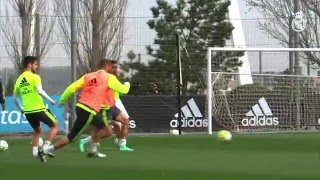 Fast Feet And Great Goals In Real Madrid Training