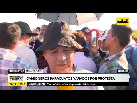 Camioneros paraguayos varados por protesta en Clorinda