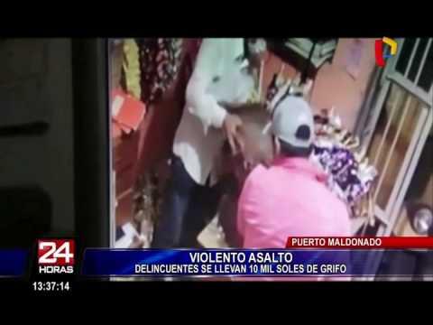 Puerto Maldonado: cámara de seguridad capta asalto a grifo