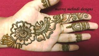 Easy Simple Mehndi Henna Designs For Hands|matroj Mehndi Designs