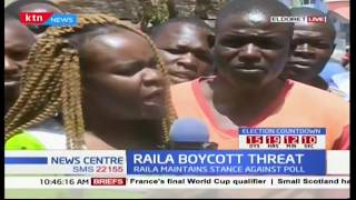 Eldoret residents' feelings on Raila's saying that he could not be part of repeat elections