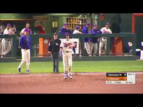 Clemson Baseball || Kennesaw State Game Highlights - 4/24/18