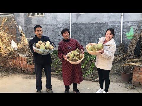 儿媳买29斤草鱼,用土方法做腌鱼,又香又辣,给公婆留着过年吃