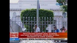 Petisyon para gawing legal sa bansa ang same-sex marriage, isasalang sa oral arguments ng SC